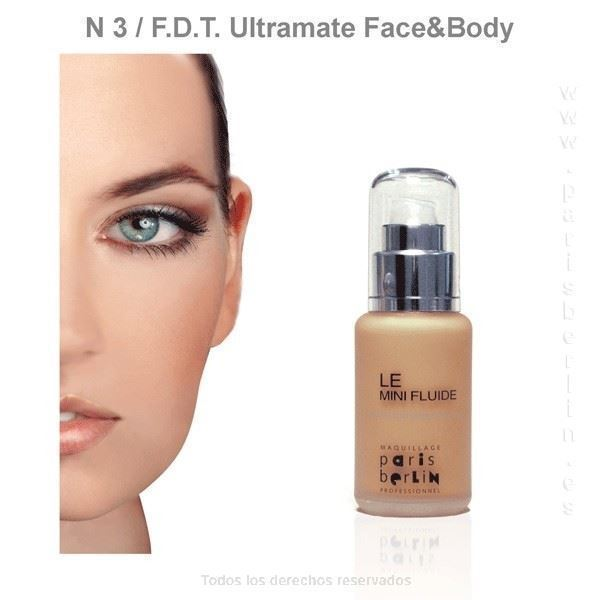 Paris Berlín - Fluide Face & Body 50 ml. Waterproof - Nº 3 - Base de maquillaje - Imagen 1